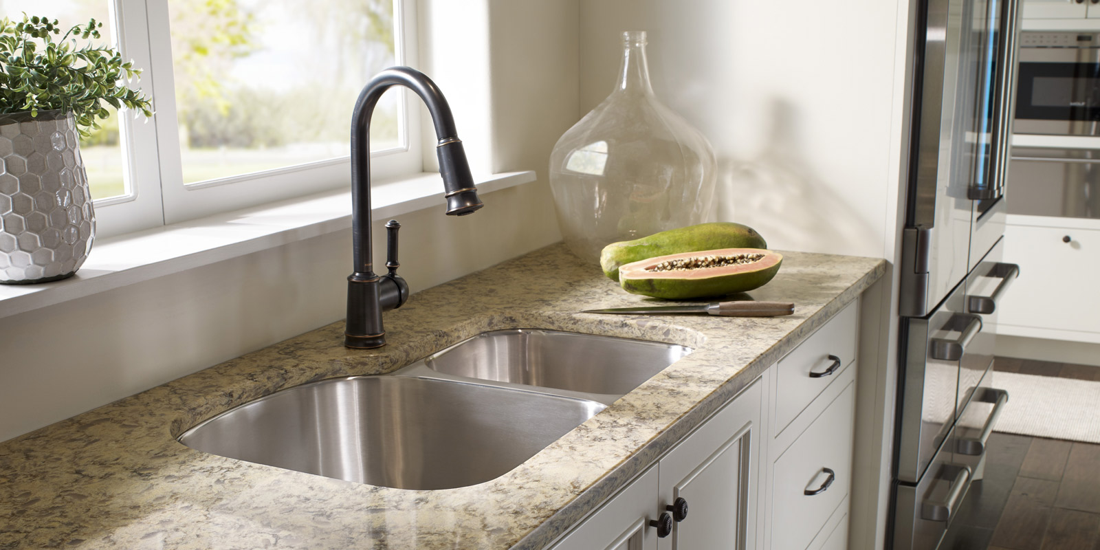 Kitchen counter tops for durability & beauty by Marchand Creative Kitchens