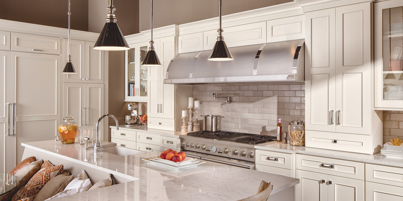 white kitchen | Marchand Creative Kitchens Cabinets New Orleans Metairie Mandeville LA
