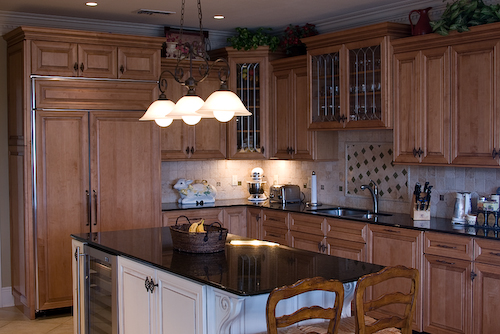 custom kitchen with light wood cabinets | Marchand Creative Kitchens Cabinets New Orleans Metairie Mandeville LA