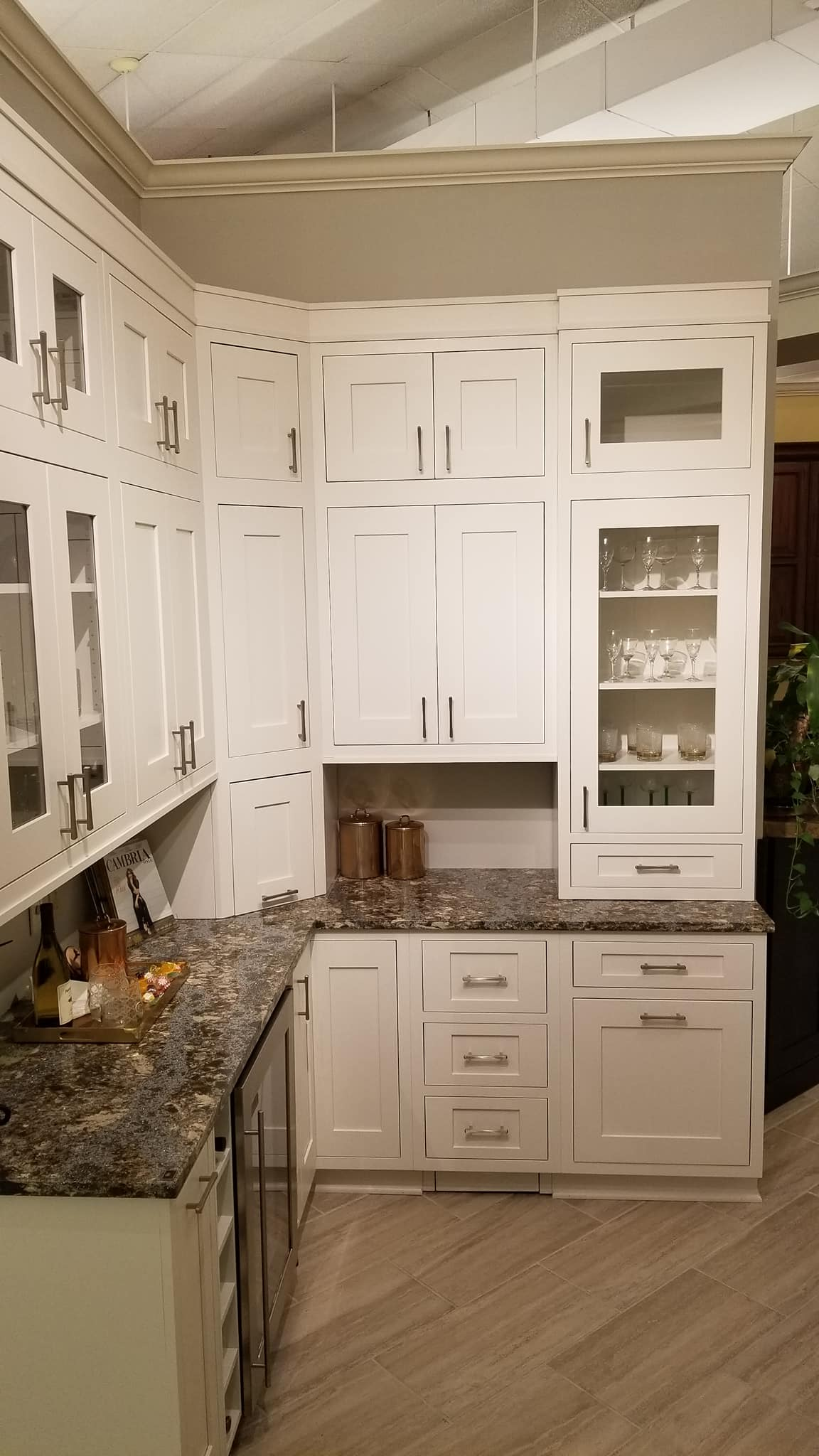 showroom cabinets display | Marchand Creative Kitchens Cabinets New Orleans Metairie Mandeville LA