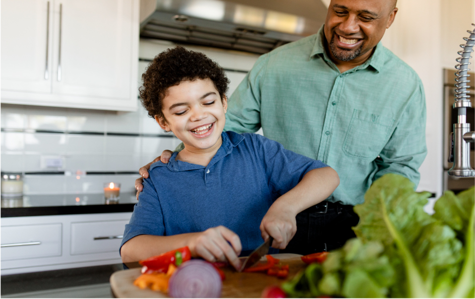 family-cooking-breakfast-together-home | Marchand Creative Kitchens Metairie and Mandeville, LA
